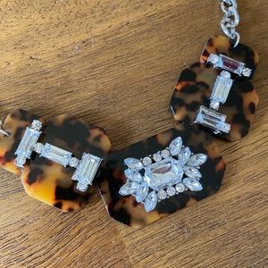 tortoise shell + sparkle statement necklace
